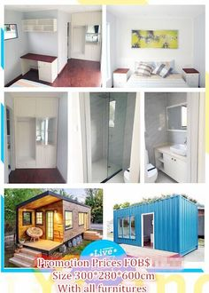 It is a 20GP container home made from China and can  be shipped to overseas.The outside can do other decorations.Now it is in promotion season.If you want to own one of these,please contact with us.What's app:86-13989890295