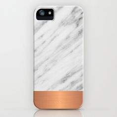 Carrara Italian Marble Holiday Rose Gold Edition iPhone & iPod Case by cafelab - $35.00