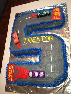 #5 Race Car Cake