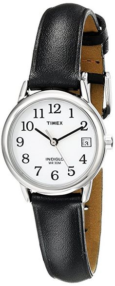 74563b04595 Timex Women s T2H331 Indiglo Leather Strap Watch