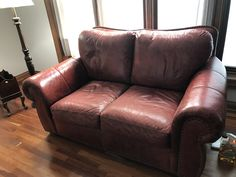 LAZY BOY RED LEATHER LOVE SEAT SOFA $295 obo  Bakers rack $65  ESTATE SALE SATURDAY, March 18 Hours: 10am to 4pm MENOMONEE FALLS:   W163 N5329 Waldens Pass, Menomonee Falls  Everything must go ~ and the list is long ~ Furniture, Glassware, Pottery, Tools, Art Work, Jewelry, Kitchen Gadgets, Dining Room Set with Chairs, Hutch, Christmas items, crystal, bedroom furniture sets, and just too much to list!!  Pictured only a FEW of the furniture pieces ...... and so many smalls ~~ all not…