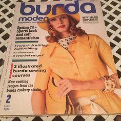 Burda Moden Magazine Vintage February 1974 sewing patterns