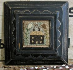 Little Brown House Needle Punch ~ Pineberry Lane