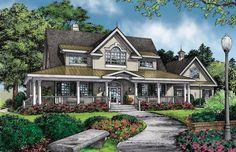 Home Plan The Valleygate by Donald A. Gardner Architects