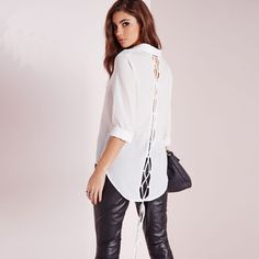 New Arrival 2016 Spring Summer Women Blouse Back Crossed Weave Shirts Sexy Fashion Dovetail Long-sleeved White Shirt Plus Size