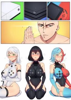 Xbox, and Nintendo Switch as anime women Anime Sexy, Anime Sensual, Anime Comics, Kawaii Anime, Female Characters, Anime Characters, Character Art, Character Design, Fan Art Anime