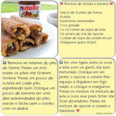 Rolinhos de Nutella e Banana