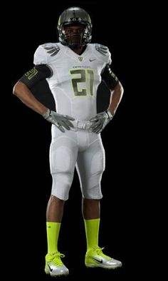 The colors for the logo were taken from this iteration of  the Oregon Duck's uniform.