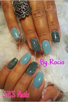 Glitter SNS nails !