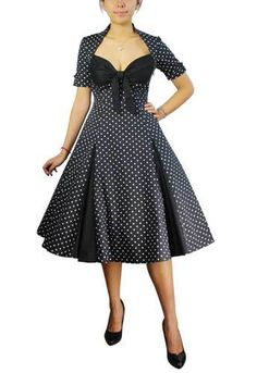 Plus Size Black Rockabilly Retro Polka Dot Swing Dress 1x 2X 3X 4X | eBay