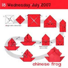 chinese frog- origami instructions