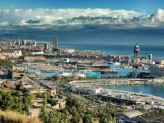 Barcelona Seafront from Montjuic