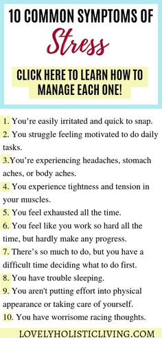 10 common symptoms of stress and stress management tips! Do you experience daily stress and overwhelm? Dealing with stress isn't easy so I wanted to give you stress relief ideas so you can gain control of your life. Work Stress, Coping With Stress, Dealing With Stress, Stress Less, How To Relieve Stress, How To Manage Stress, Reduce Stress, Stress Free, What Is Stress