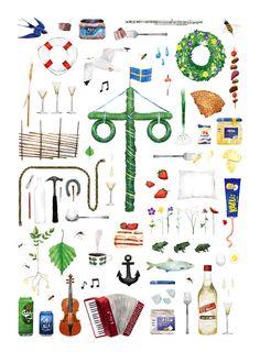 swedish midsummer Art Print