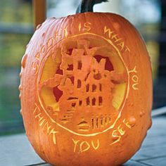 31 Halloween Pumpkin Carving Ideas from my favorite magazine - Southern Living. I wish I was this creative.