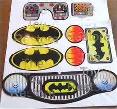 New Replacement Decals Stickers for Vtg Little Tikes Cozy Coupe Car Batman