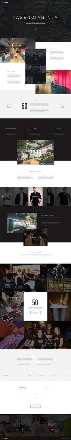 Black Ninja website. Ui design concept by Elegant Seagulls on dribbble.