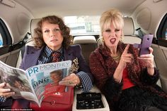 Back for more: Jennifer as Eddy and Joanna as Patsy in scene from Absolutely Fabulous: The Movie