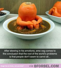 Funny pictures about Emo Veg. Oh, and cool pics about Emo Veg. Also, Emo Veg photos. Food Puns, Food Humor, Funny Food, Cooking Puns, Cooking Corn, Funny Quotes, Funny Memes, It's Funny, Hilarious Jokes