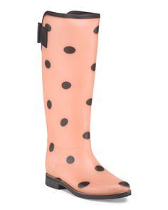 Royal Polka Dot Rain Boot