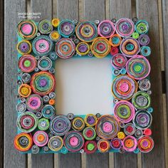 Make Rolled Paper Picture Frames