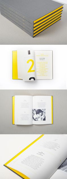 SPIN. Yellow and grey book about communication, written by Spintank and designed by l'Atelier tout va bien.
