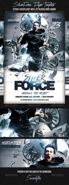 Profiles Flyer Template | Party Events, Fonts And Advertising