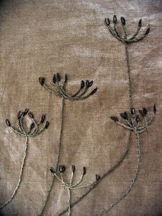 Kirsten Hecktermann - Textiles and Spoons Beaded Embroidery, Cross Stitch Embroidery, Textile Texture, Fabric Journals, Creative Embroidery, Couture Sewing, Hand Art, Vintage Textiles, Fabric Art