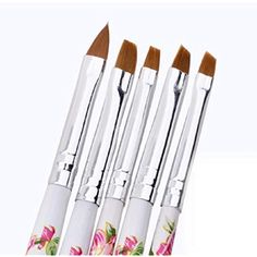 Fheaven 5pcs UV Gel Acrylic Nail Art Brush Painting Pen Set Nail Design Manicure Tool * You can get more details by clicking on the image. (This is an affiliate link and I receive a commission for the sales)