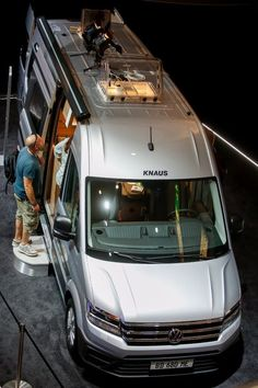 Knaus turns the VW Crafter van into a new type of CUV, a caravanning utility vehicle Mercedes Sprinter Camper, Car Camper, Camper Van, Bike Storage In Van, Caravan Salon, Best Campervan, Tin Can Tourist, Vw Lt, Kombi Home