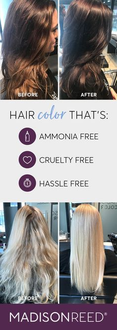 Professional hair color and hair color products with salon-quality results. See for yourself how Madison Reed is transforming the at home hair color experience. Professional Hair Color, Professional Hairstyles, My Hairstyle, Pretty Hairstyles, Before After Hair, At Home Hair Color, Great Hair, Hair Dos, Gorgeous Hair