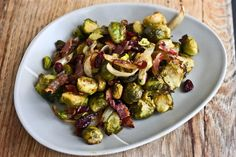 Pistachio, Cranberry and Bacon Brussel Sprout Salad