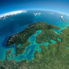 Northern Europe, exaggerated relief map by Anton Balazh, using NASA data #map #europe
