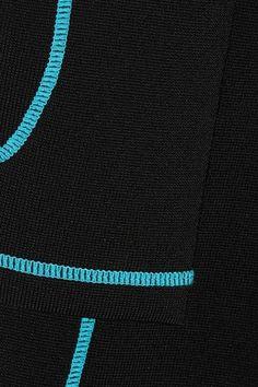 Alexander Wang - Lace-up Stretch-knit Midi Dress - Black - medium