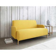 Canapé 2 places en tissu jaune Adam   Maisons du Monde