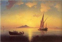 Ivan Aivazovsky (1817 -1900) | Romanticism | The Bay of Naples - 1841