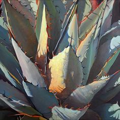 "Agave by Karen Myers Oil ~ 20"" x 20"""