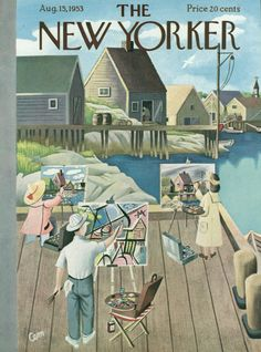 Charles E. Martin : Cover art for The New Yorker 1487 - 15 August 1953