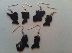 Disney couples. Handmade earrings by Courtney Cox