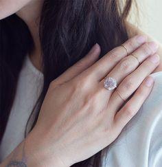 SALE Vanilla druzy Ring OOAK Gold Filled by #Friedasophie - http://www.friedasophie.com