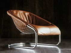 Cantilever low lounge chair CORTINA - Minotti
