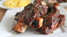 Slow baked beef ribs rubbed in spices, slow baked and brushed with BBQ sauce. These easy oven baked beef ribs are tender, fall off the bone good. Oven Baked Beef Ribs, Bbq Beef Ribs, Beef Ribs Recipe, Beef Short Ribs Oven, Beef Back Ribs, Fast Short Ribs Recipe, Best Ribs In Oven, Oven Ribs, Prime Rib Roast