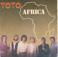 """""""Africa"""" is a million-selling, Gold-certified single by rock band Toto, and one of the band's most recognizable songs. It was included on their Triple Platinum 1982 album Toto IV, and hit on the Billboard Hot 100 chart in February Rock & Pop, Pop Rocks, 80s Music, Good Music, Music Covers, Album Covers, The Embrace, 1980s, Marching Bands"""
