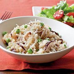 Shiitake and Sweet Pea Risotto Recipe | MyRecipes.com