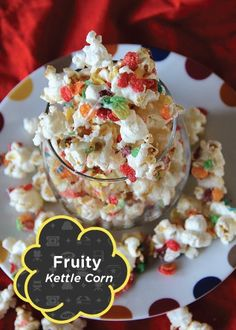 Your kids' favorite cereal pairs with their favorite popcorn in this amazingly delicious and ultra colorful Fruity Kettle Corn recipe! Serve it up on movie night for a sweet treat the whole family will enjoy.