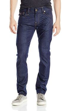 True Religion Men's Outsider Stretch Rocco Relaxed Skinny with Flap Pockets Jean, Raw, 33 ❤ True Religion Men's Collections