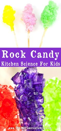 Want a way to get kids really excited about supersaturated solutions? Challenge them to some kitchen science with rock candy making! via /steampoweredfam/