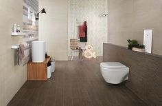 Bathroom with wood tiles from Bord collection. By Atlas Concorde.