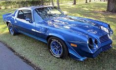 Example of Bright Blue paint on a 1981 GM Camaro Z28 Coupe