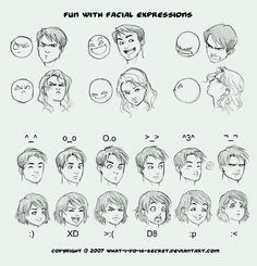 How to draw facial expressions?